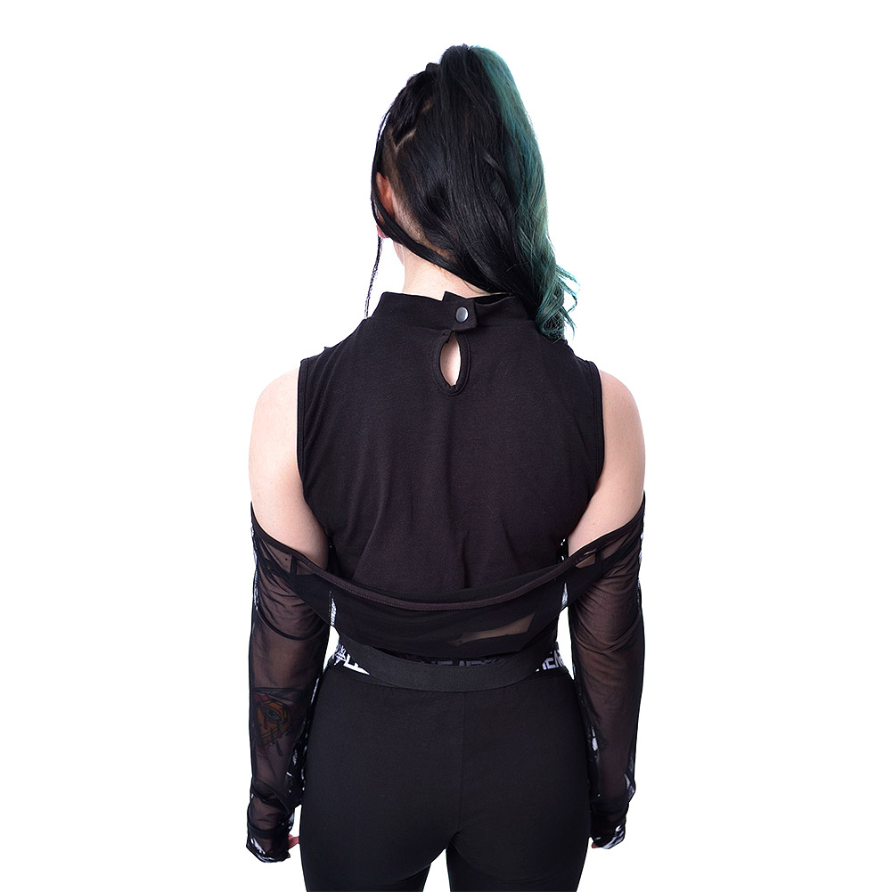 Heartless Rowena Lace Crop Top (Black)