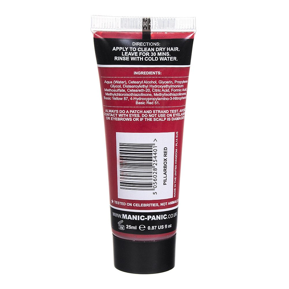 Manic Panic High Voltage Classic Cream Mini Hair Dye Set 125ml (Pillarbox Red)