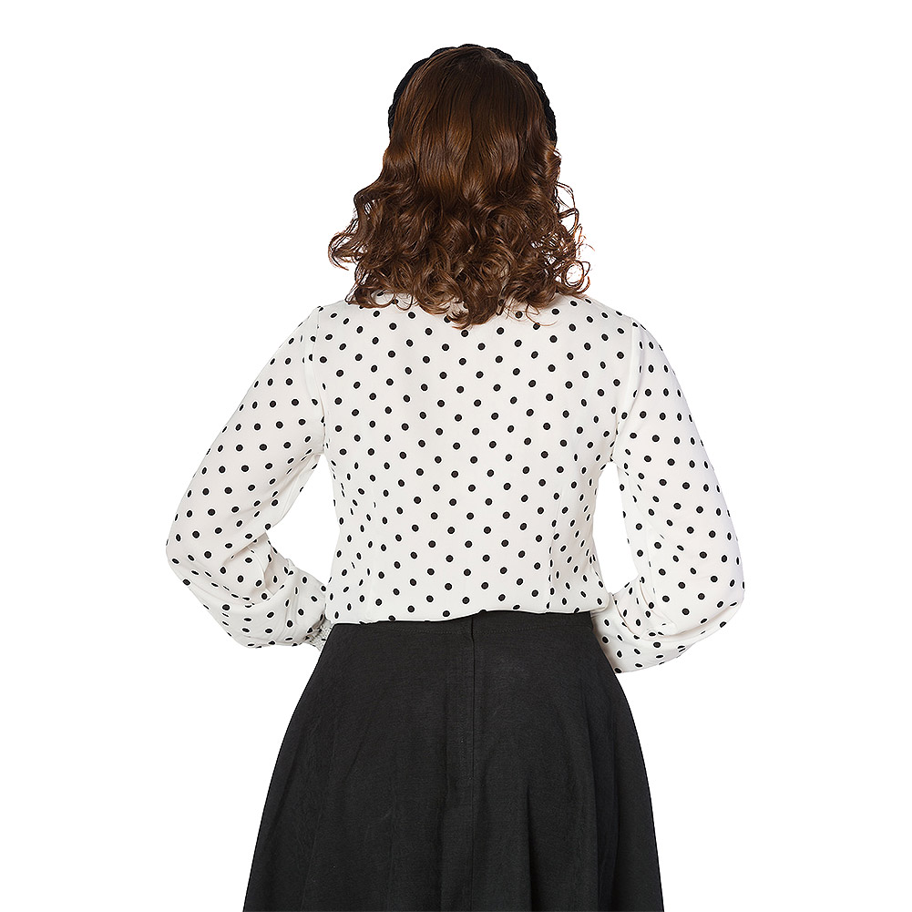 Banned Cat Collar Blouse (White)