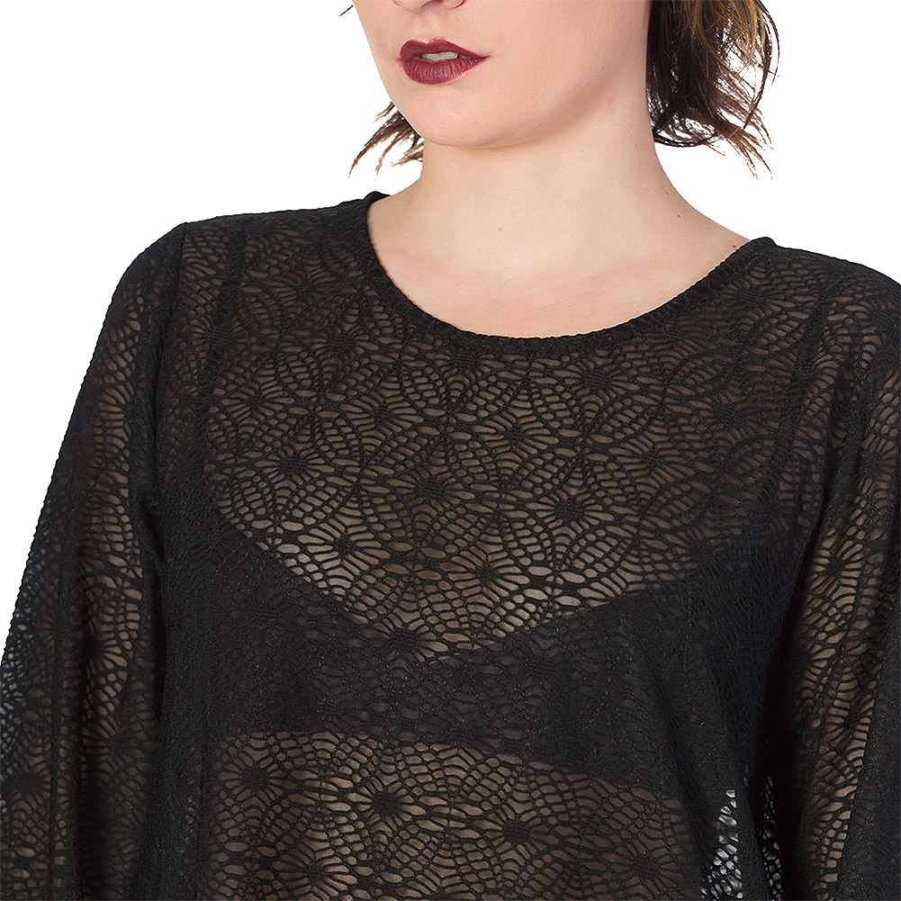Banned Lace Life Tunic Top (Black)