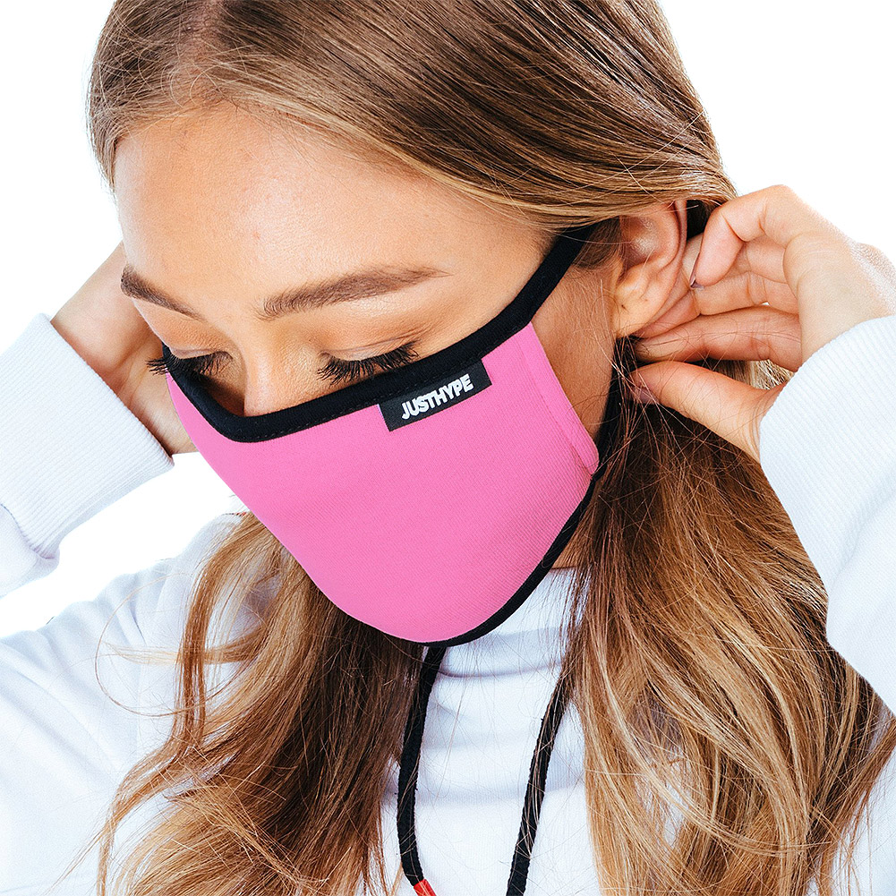 Hype Mono Pink/Red/Grey Facemask (Pack Of 3)