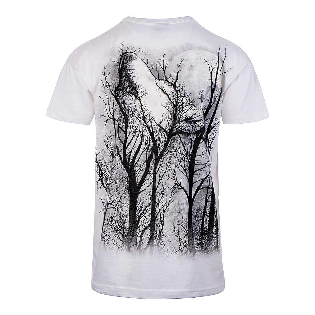 Spiral Direct Forest Wolf T Shirt (White)