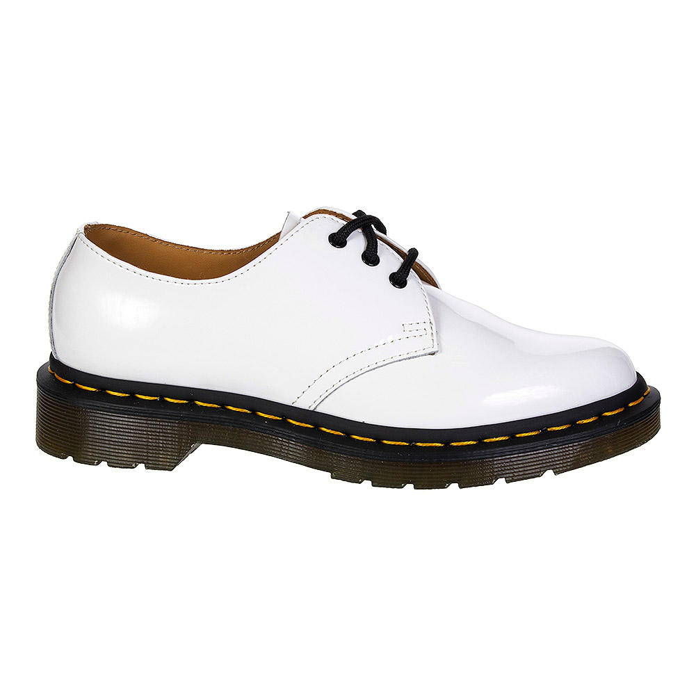 Dr Martens 1461 Patent Shoes (White)