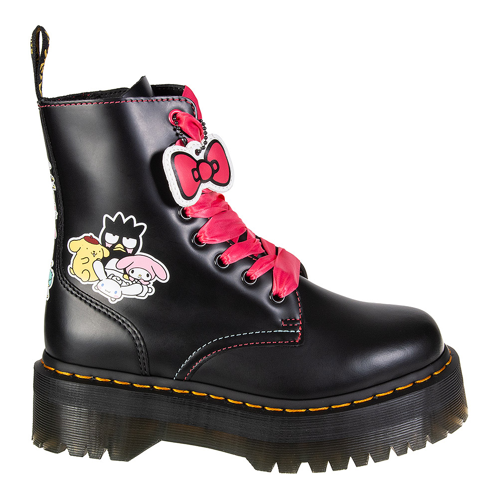 Dr Martens Jadon Hello Kitty & Friends Boots (Black)