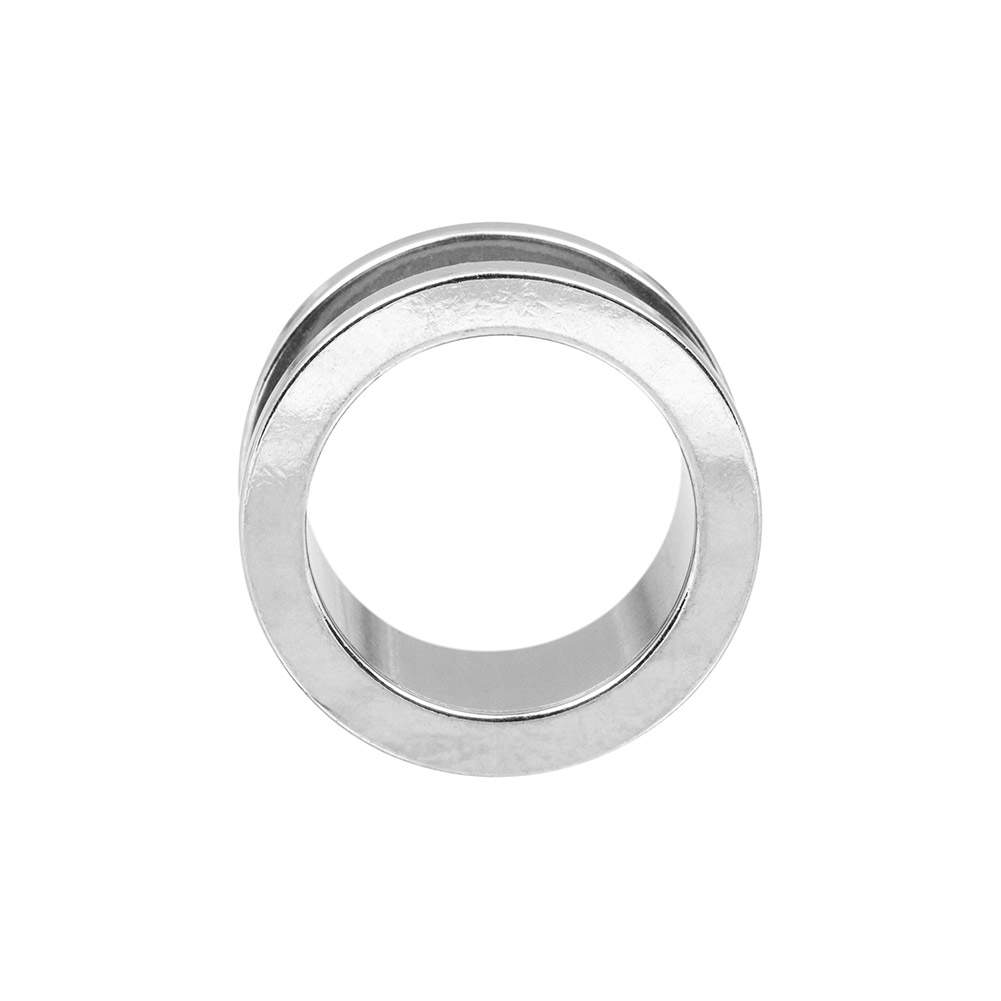 Blue Banana Surgical Steel Flesh Tunnel 3-24mm (Silver)
