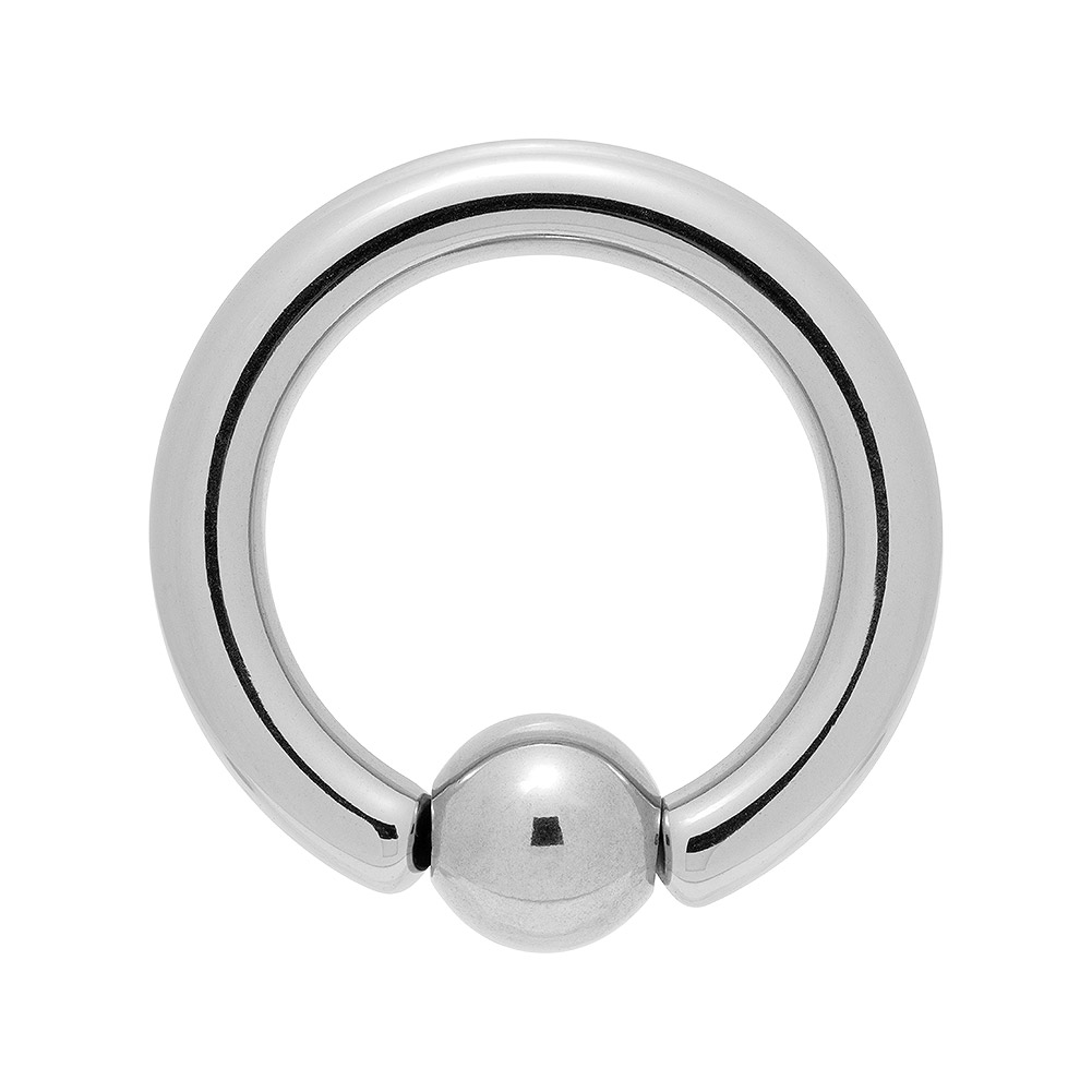 Blue Banana Large Steel 4mm BCR (Silver)