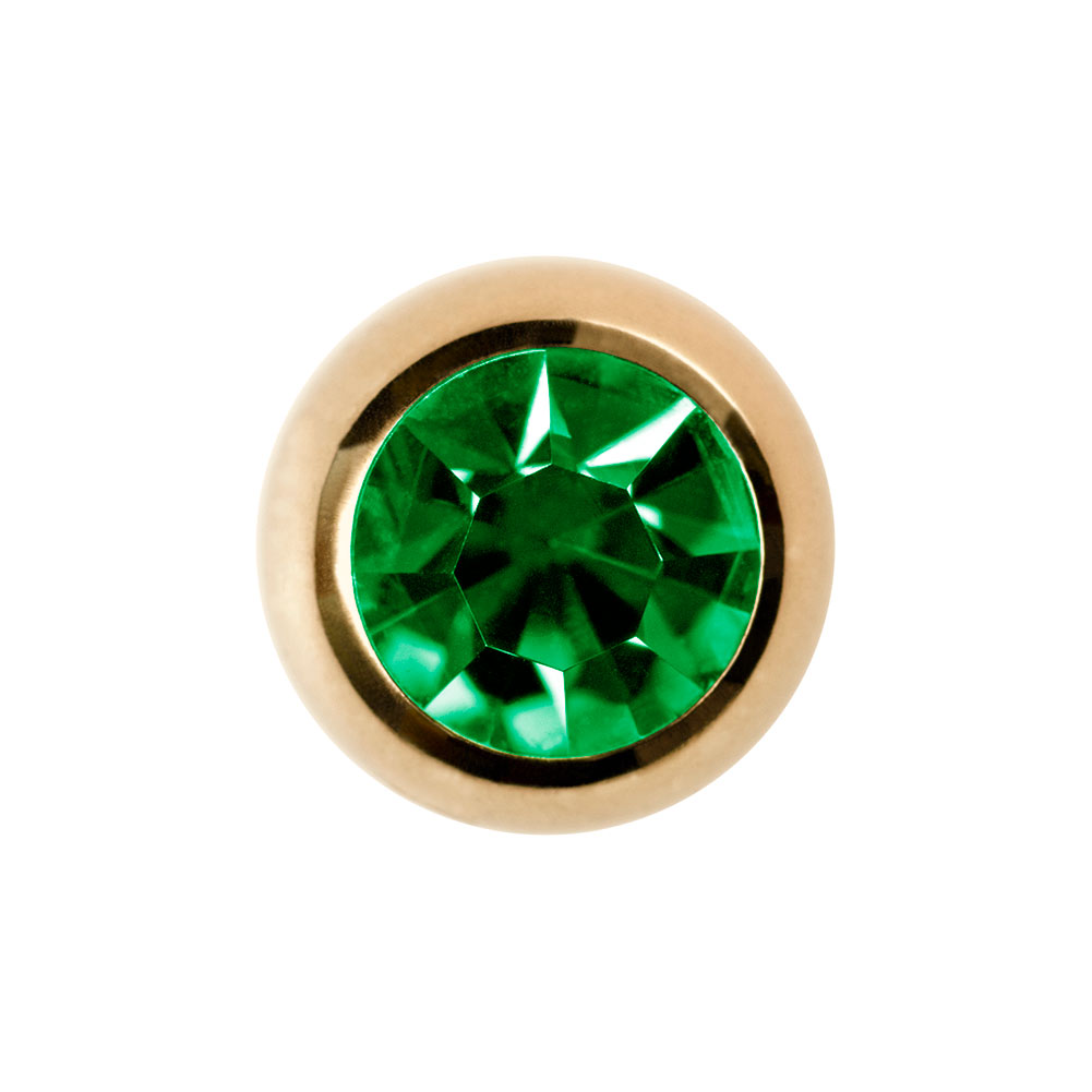 Plasma Gold Jewelled 5mm Ball (Peridot)