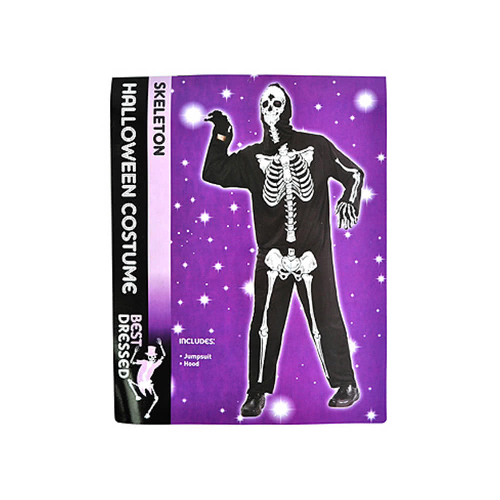 Halloween Skeleton Fancy Dress Costume (Black)