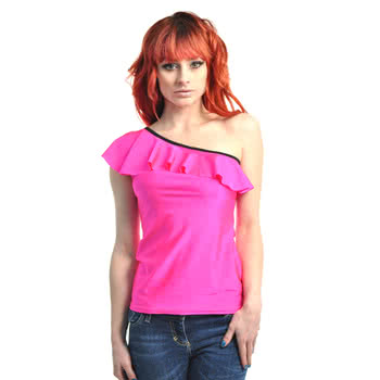 Insanity Frilly Pink Top