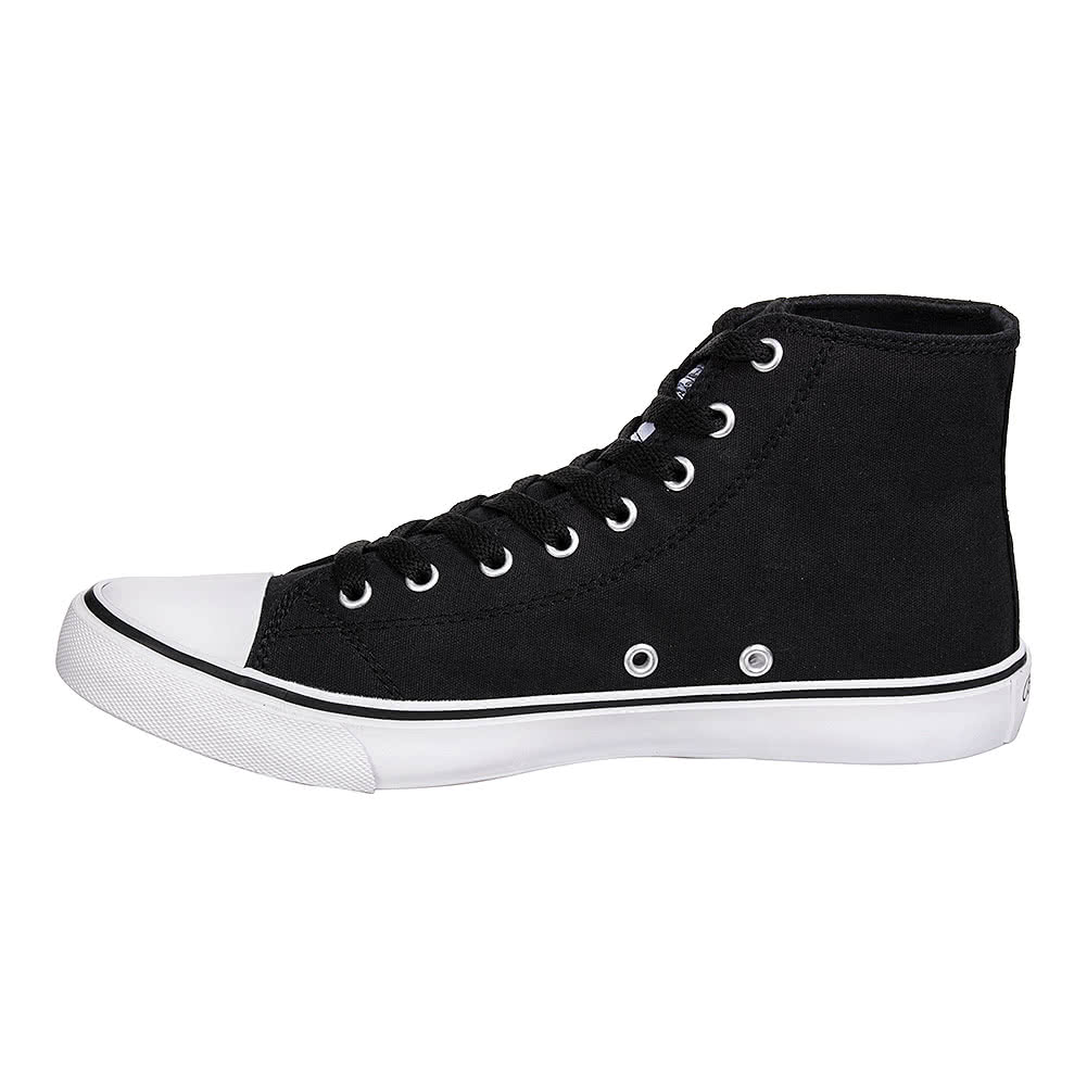 Bleeding Heart Canvas Hi Tops (Black/White)