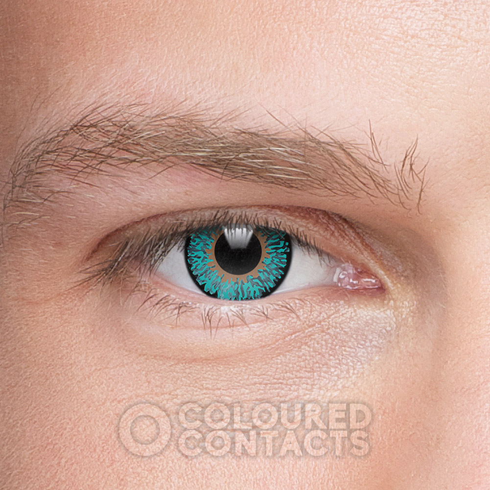 Tri Tone 90 Day Coloured Contact Lenses (Aqua Blue)