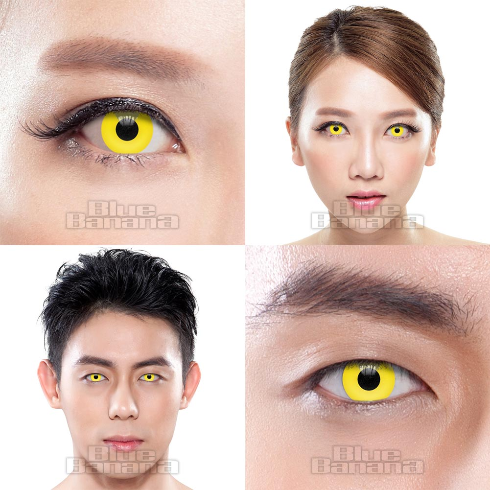 UV i-Glow 30 Day Coloured Contact Lenses (Yellow)