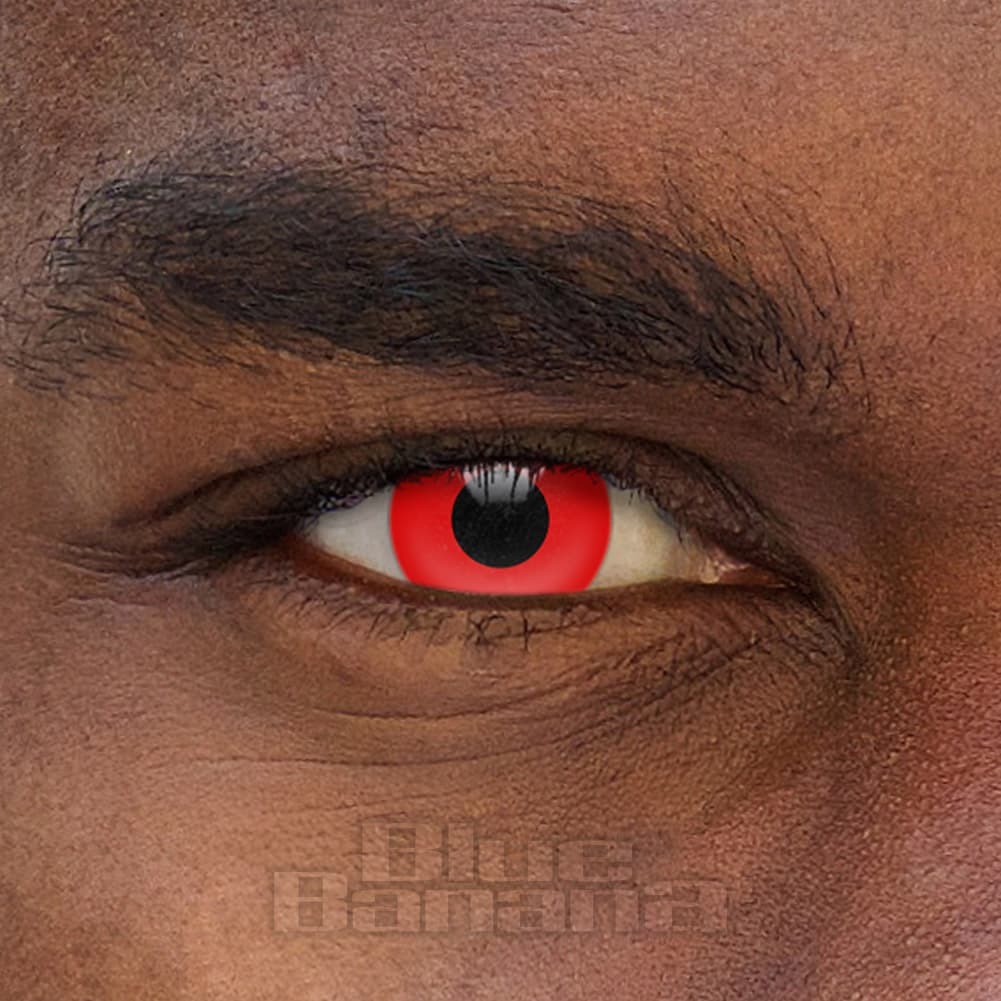 Halloween 90 Day Coloured Contact Lenses (Red)