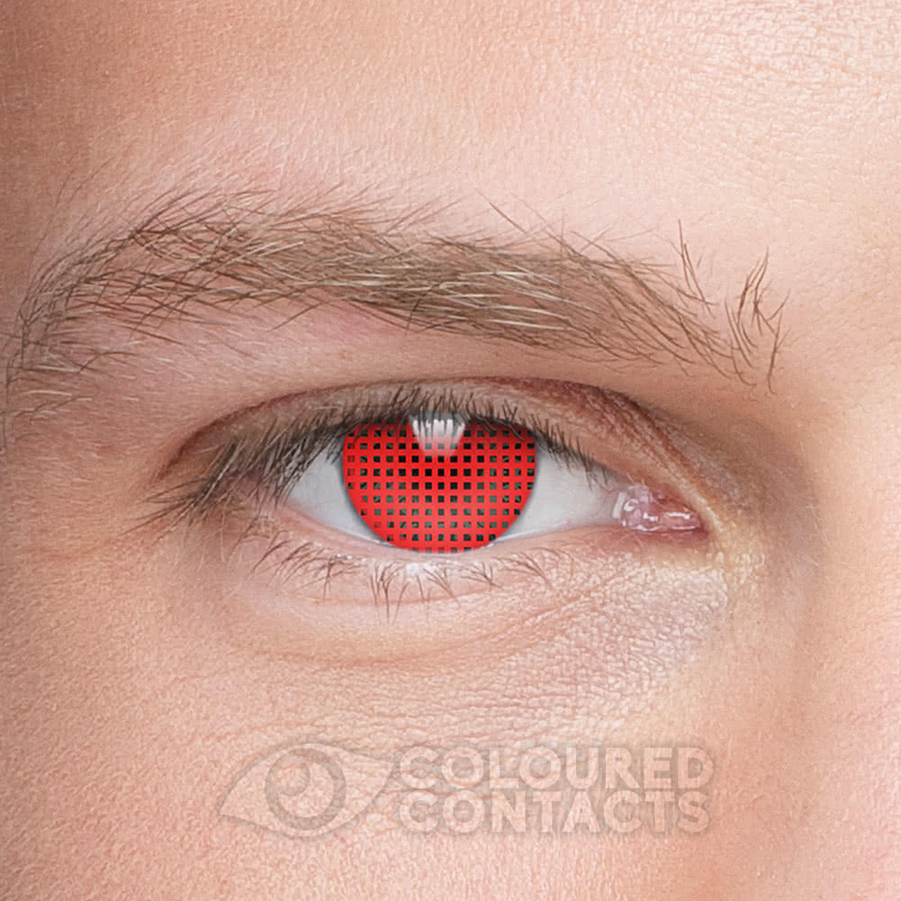 Mesh 90 Day Coloured Contact Lenses (Red)
