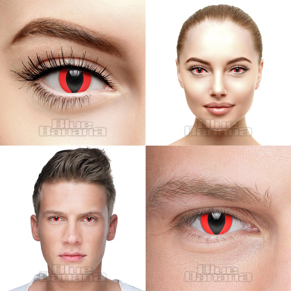 Cat's Eye 90 Day Coloured Contact Lenses (Red)