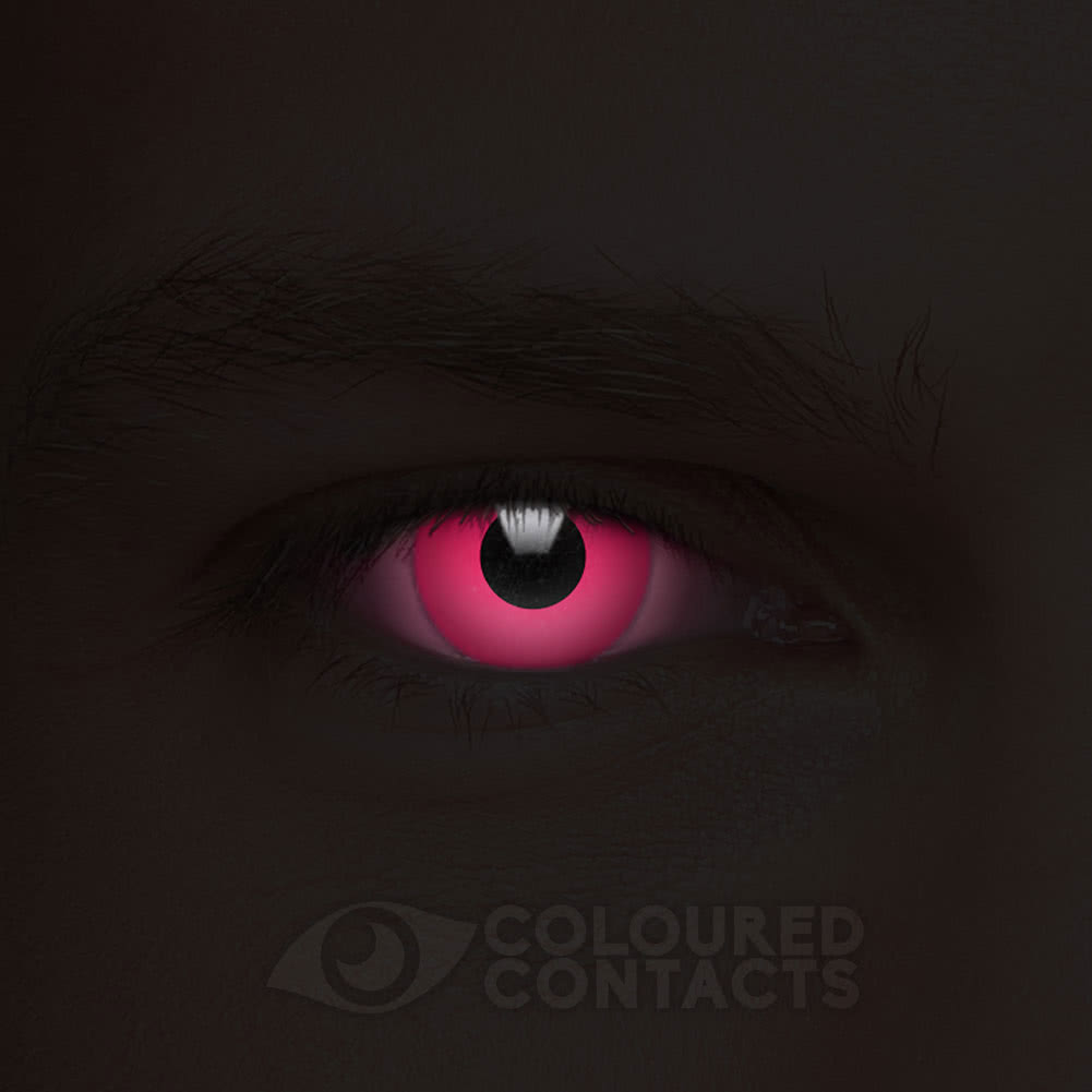 UV i-Glow 90 Day Coloured Contact Lenses (Pink)