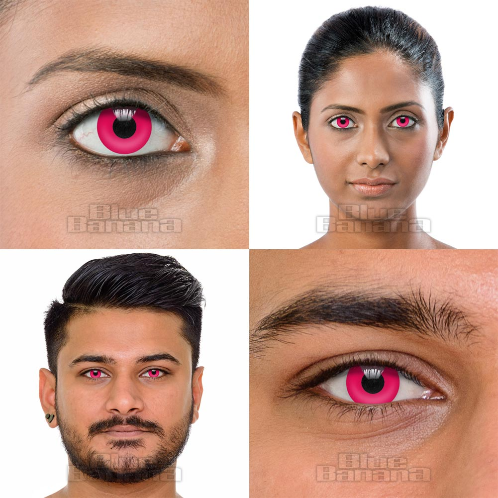 UV i-Glow 30 Day Coloured Contact Lenses (Pink)