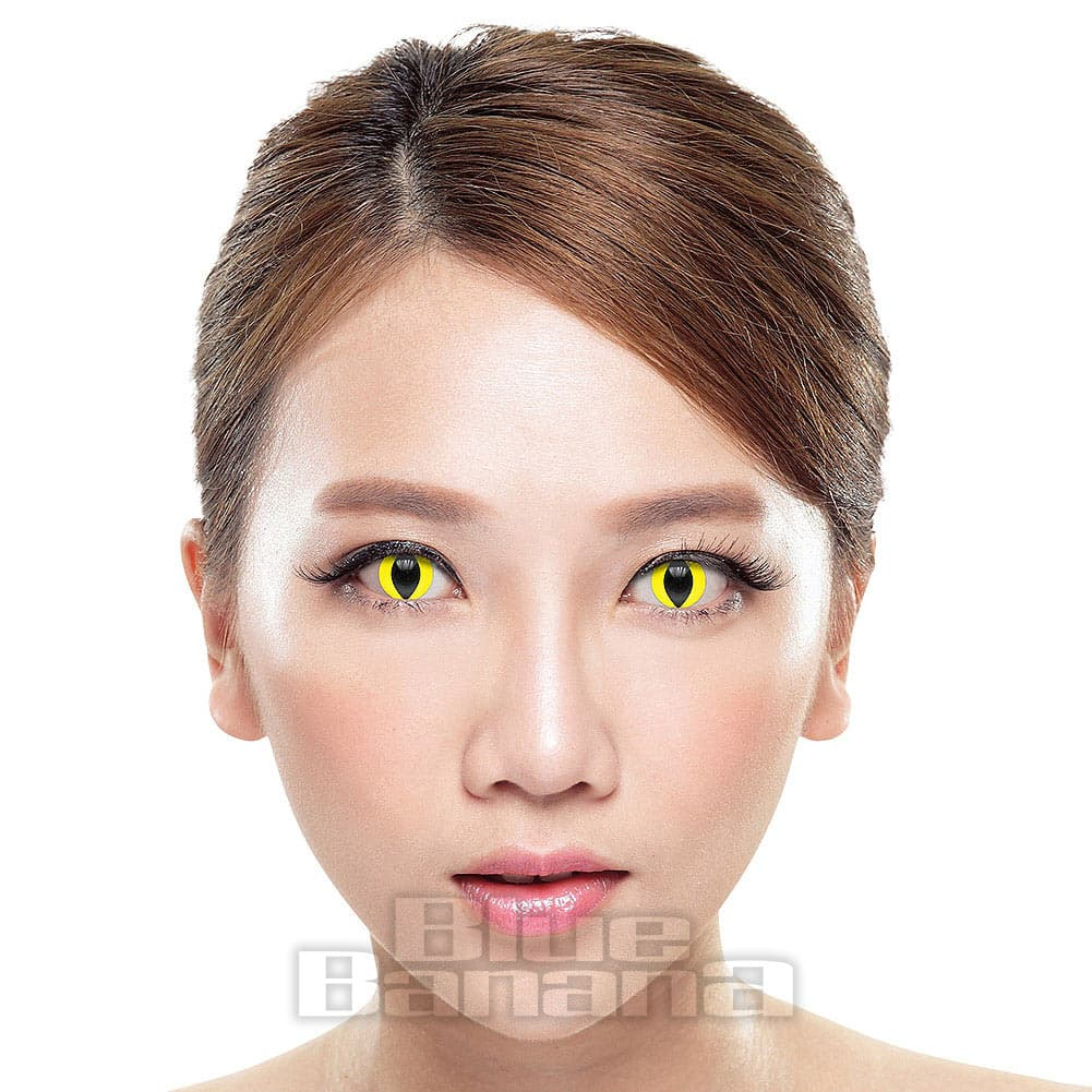 UV i-Glow Cat's Eye 90 Day Coloured Contact Lenses (Yellow)