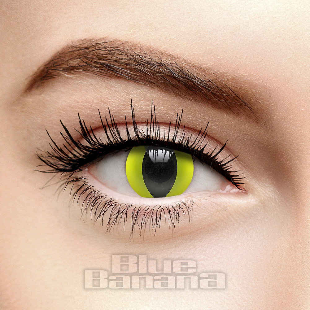 UV i-Glow Cat's Eye 1 Day Coloured Contact Lenses (Yellow)