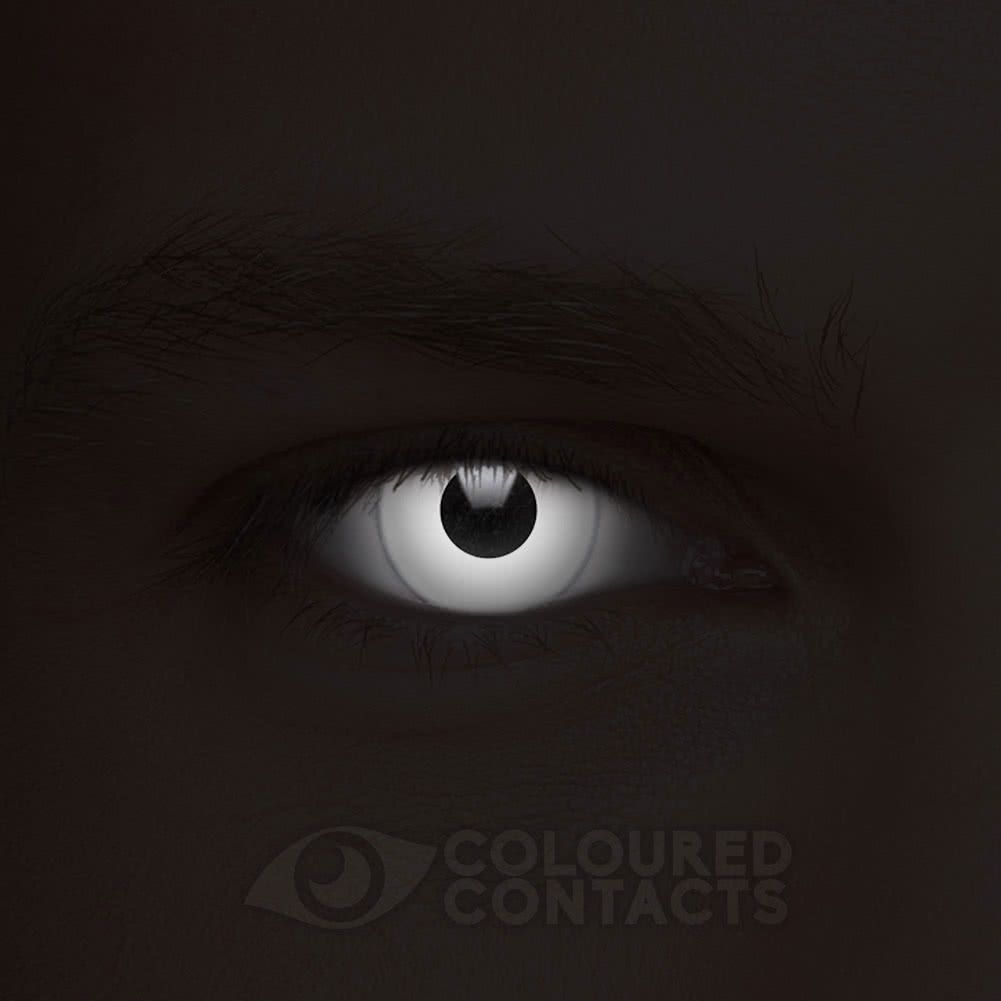 Halloween 90 Day Coloured Contact Lenses (White)