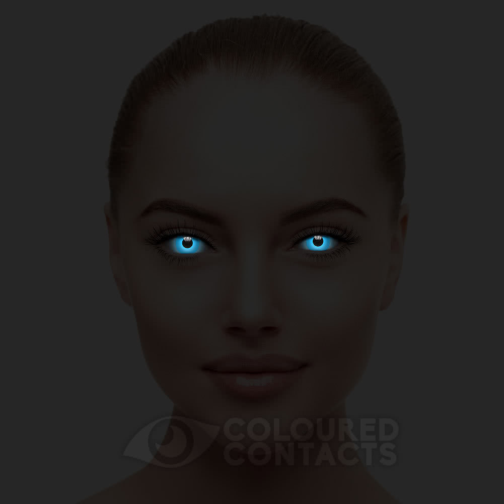UV i-Glow 90 Day Coloured Contact Lenses (Blue)