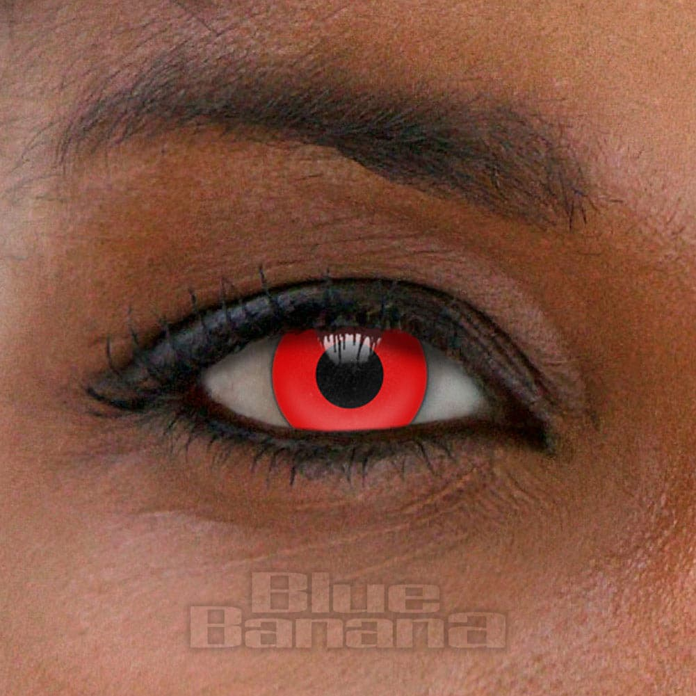 Blood Halloween 1 Day Coloured Contact Lenses (Red)
