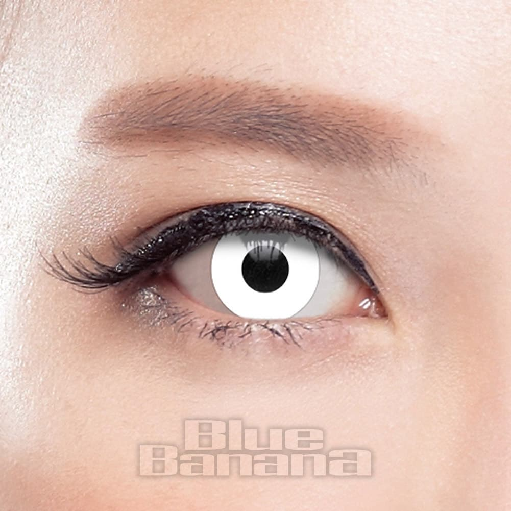 Zombie Halloween 1 Day Coloured Contact Lenses (White)