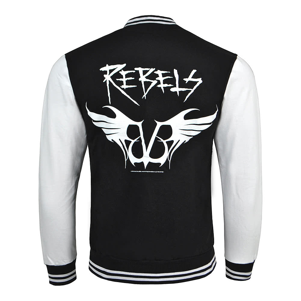 Official Black Veil Brides Rebels Varsity Jacket (Black/White)