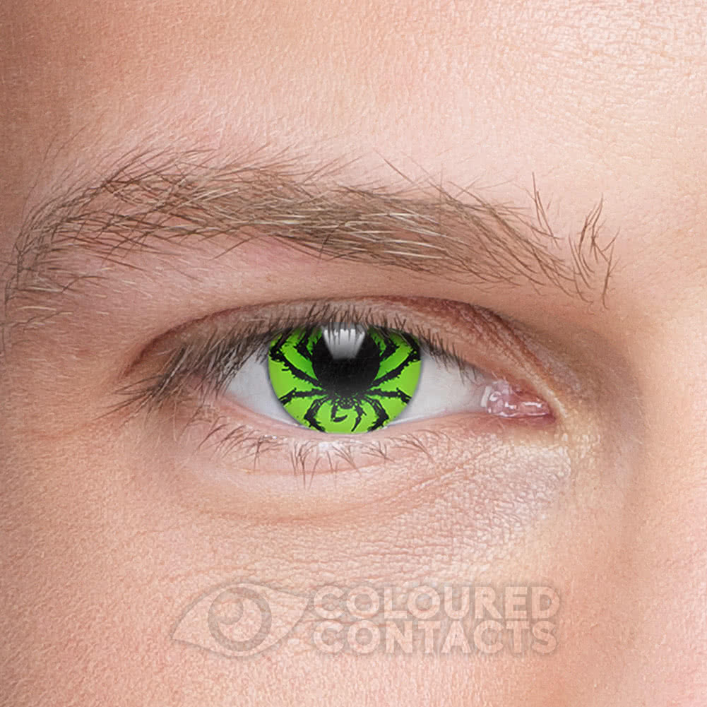 Poison Spider 90 Day Coloured Contact Lenses (Black/Green)