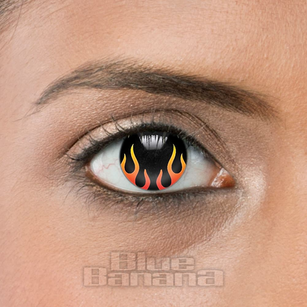 Hell's Flame 90 Day Coloured Contact Lenses (Black/Red)