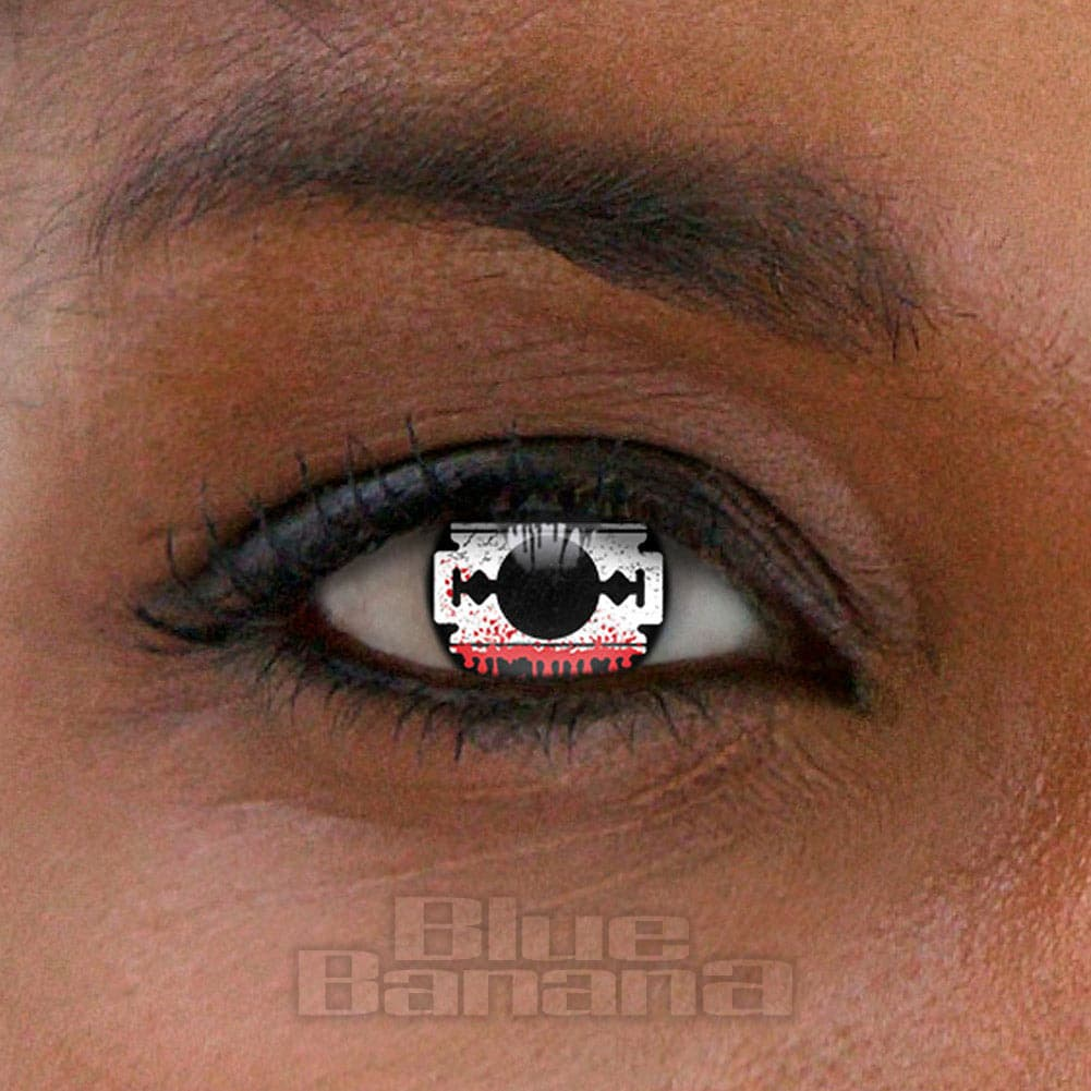 Blood Razor 90 Day Coloured Contact Lenses (Black/Red)