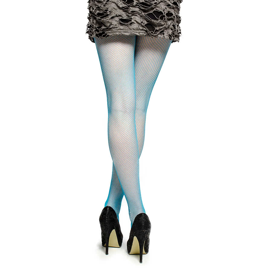 Blue Banana Small Fishnet Tights (Blue)