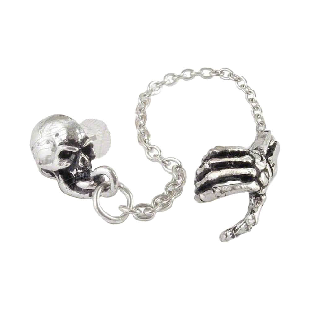 Alchemy Gothic Mortal Remains Cuff Earring (Single)