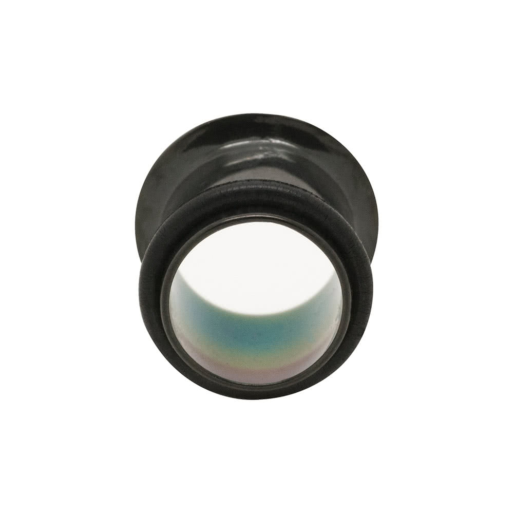 Blue Banana Acrylic Flared Plain Ear Plug 4-10mm (Black)