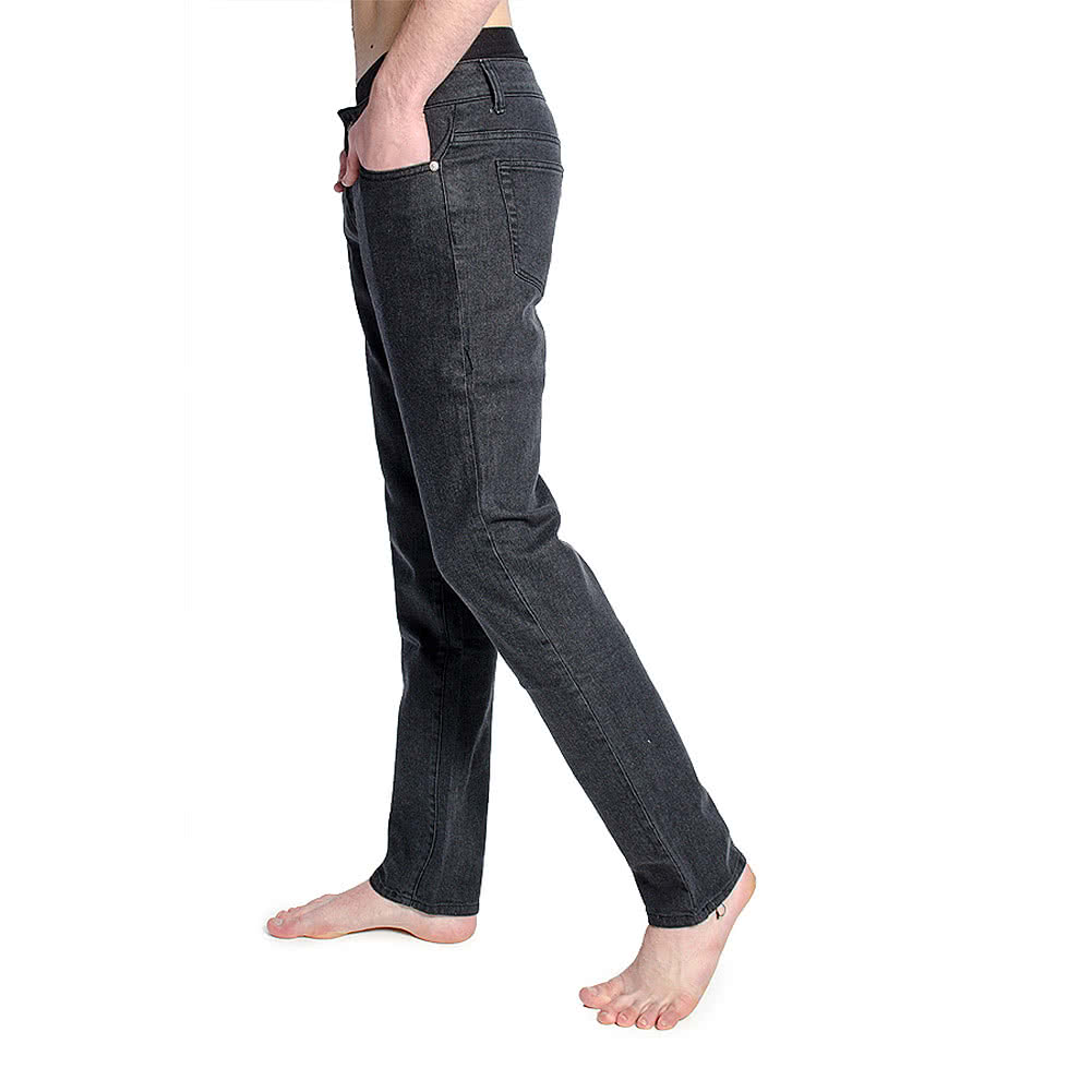 Bleeding Heart Stonewash Skinny Fit Jeans (Black)