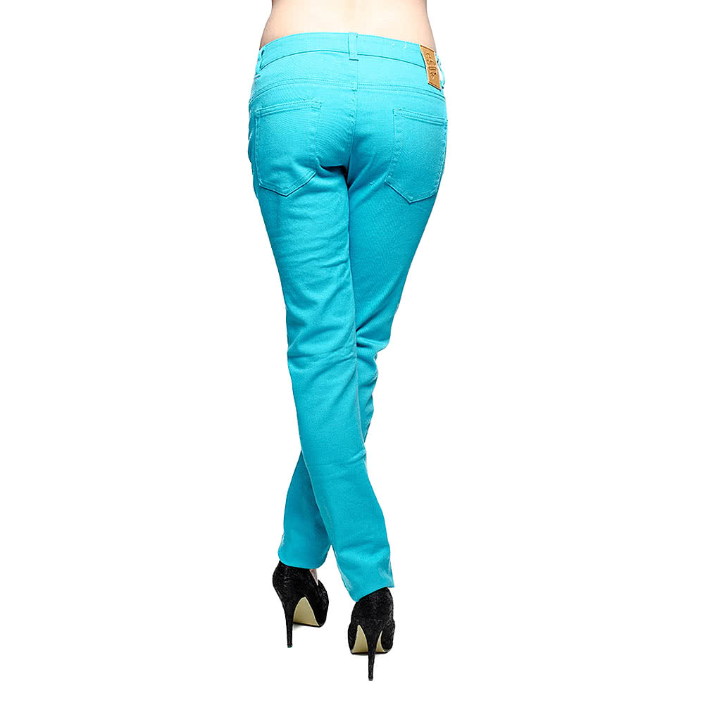 Bleeding Heart Skinny Fit Jeans (Aqua)