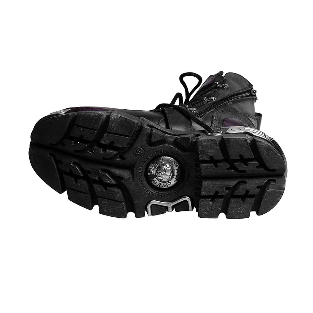 New Rock M.591-S3 Reactor Flame Boots (Black/Purple)