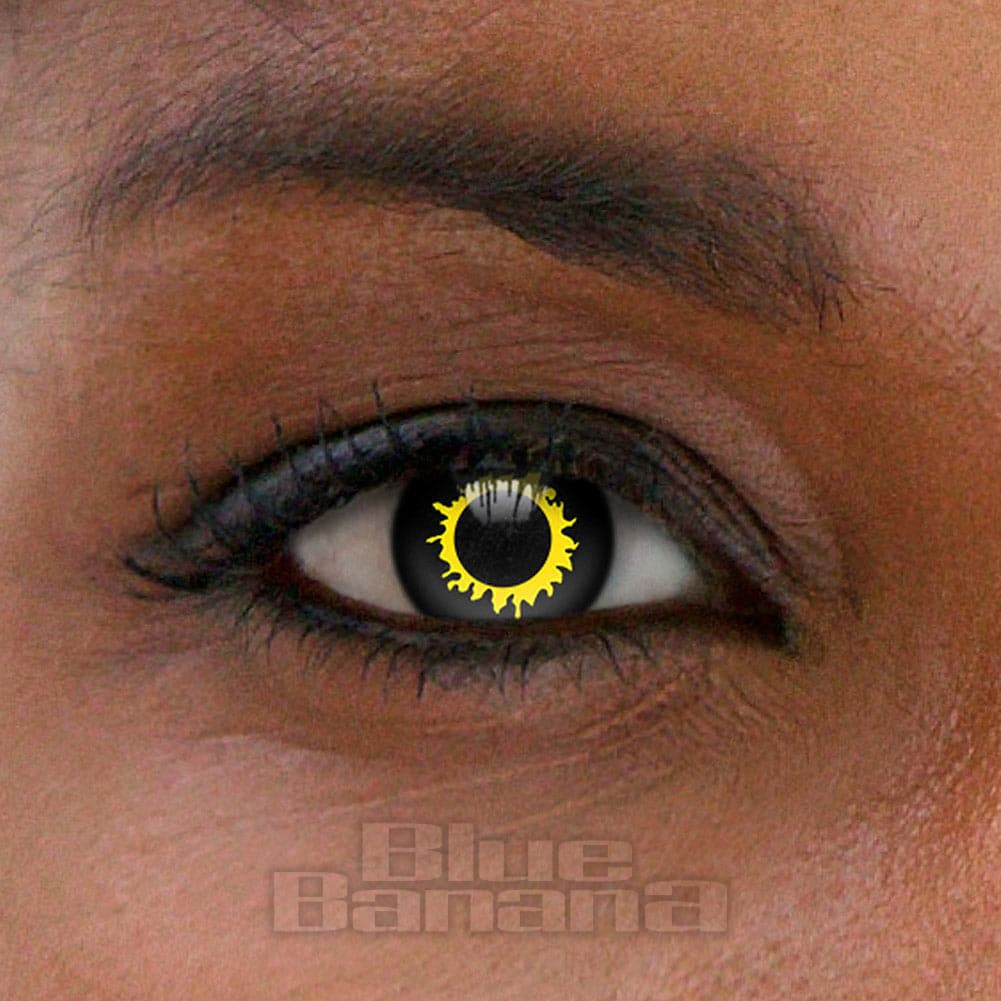 Wolf Halloween 1 Day Coloured Contact Lenses (Black)