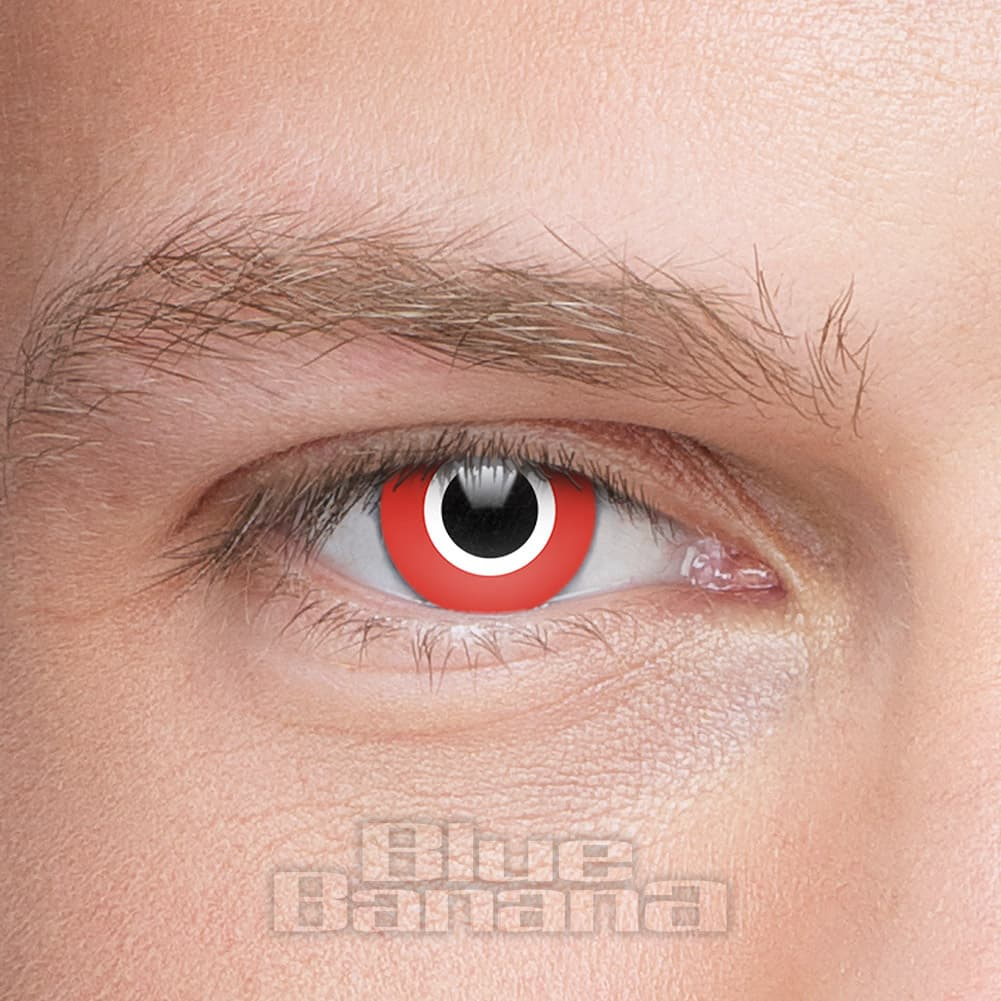 Assassin Halloween 1 Day Coloured Contact Lenses (Red)