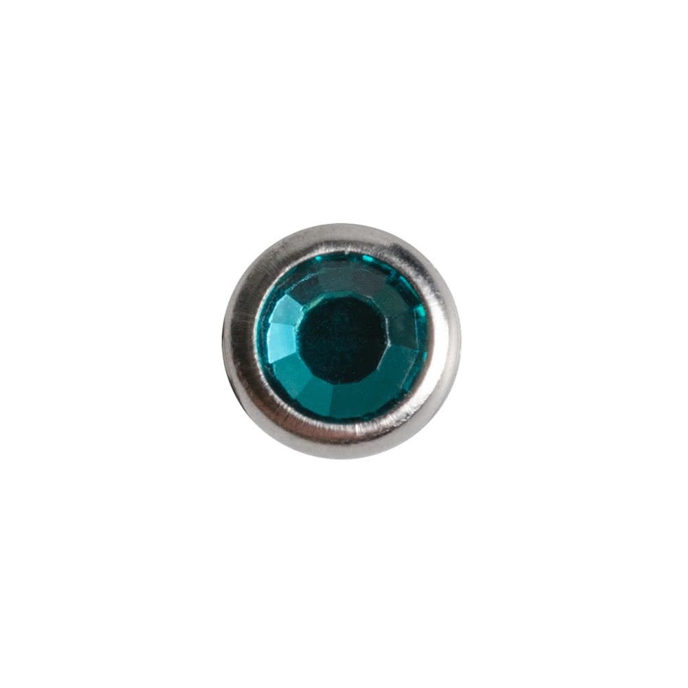 Blue Banana Polished Titanium 3mm Micro Dermal Anchor (Zircon)