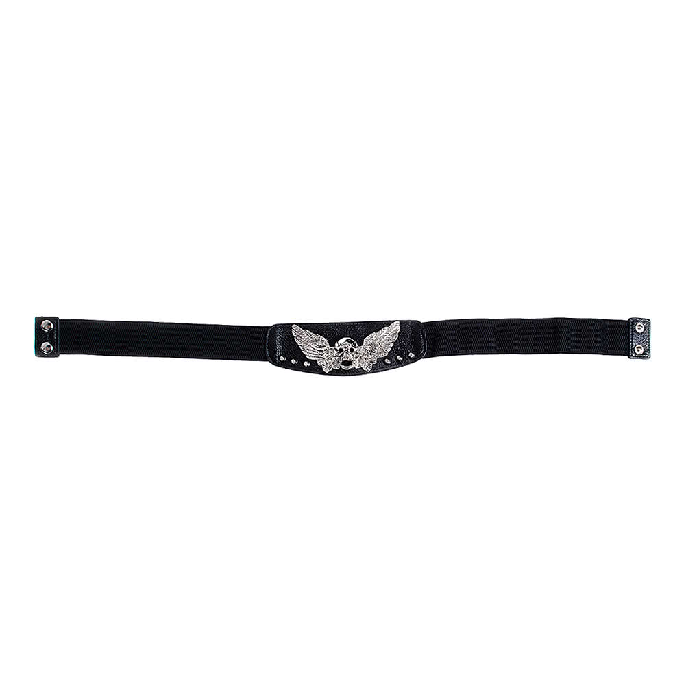 Blue Banana Winged Skull Waist Belt (Black)