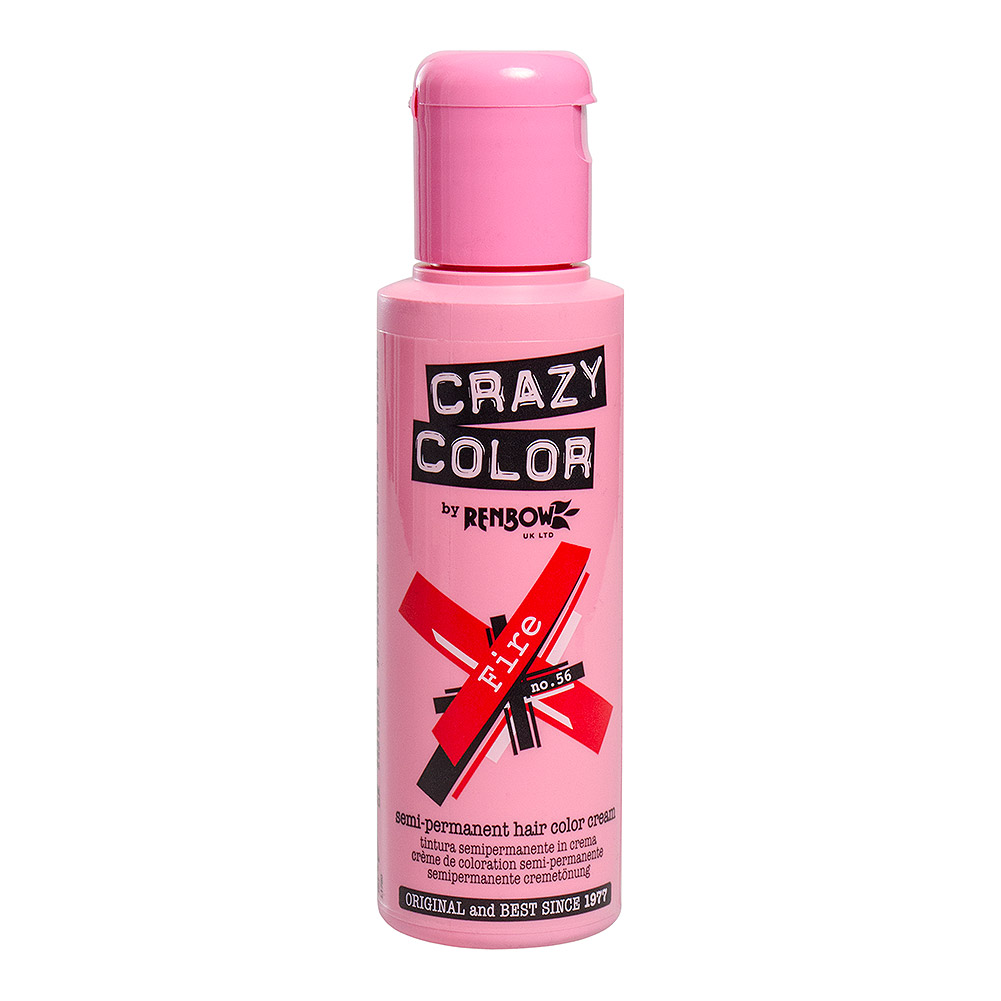Tinte capilar semi-permanente de Crazy Color 100ml (Fire Red - rojo fuego)