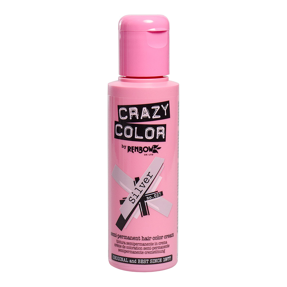 Tintura Per Capelli Semi-Permanente 100ml Crazy Color (Argento - Argento)