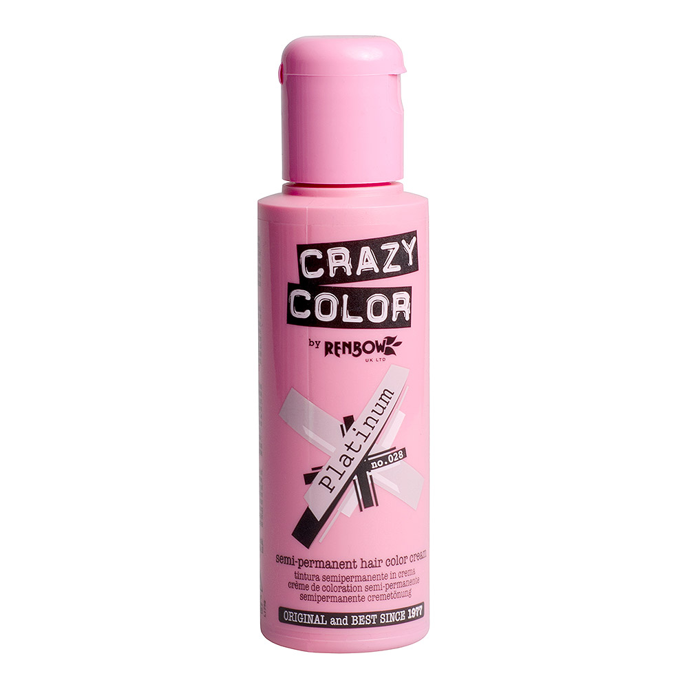 Tintura Per Capelli Semi-Permanente 100ml Crazy Color (Platino - Bianco)