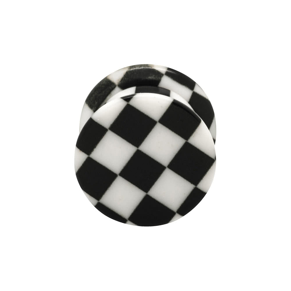 Blue Banana Chequered Stash Plug 10-18mm (Black)