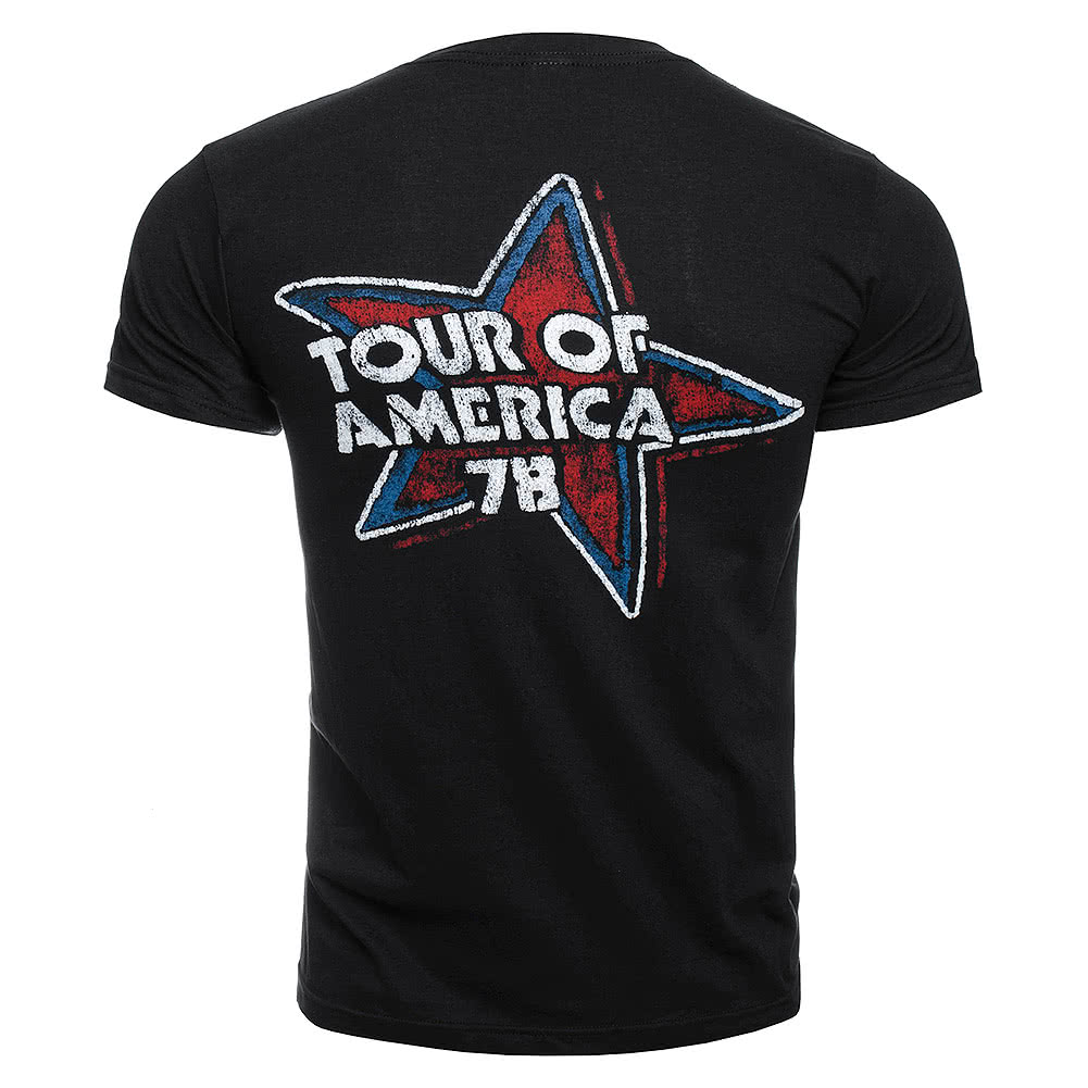 Official Rolling Stones Tour of the USA T Shirt (Black)