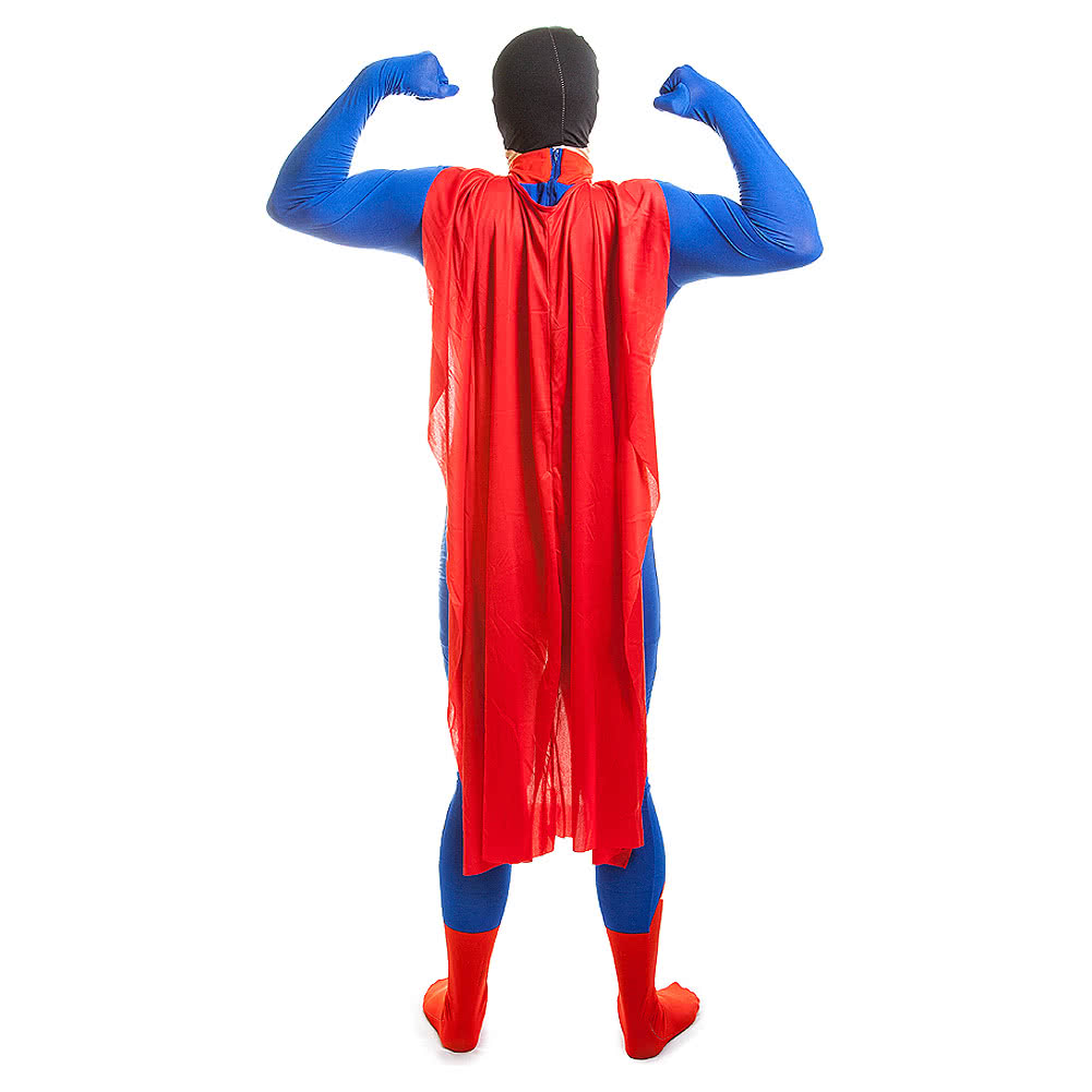 Rubies Second Skin Superman Jumpsuit (Blue/Red/Yellow)