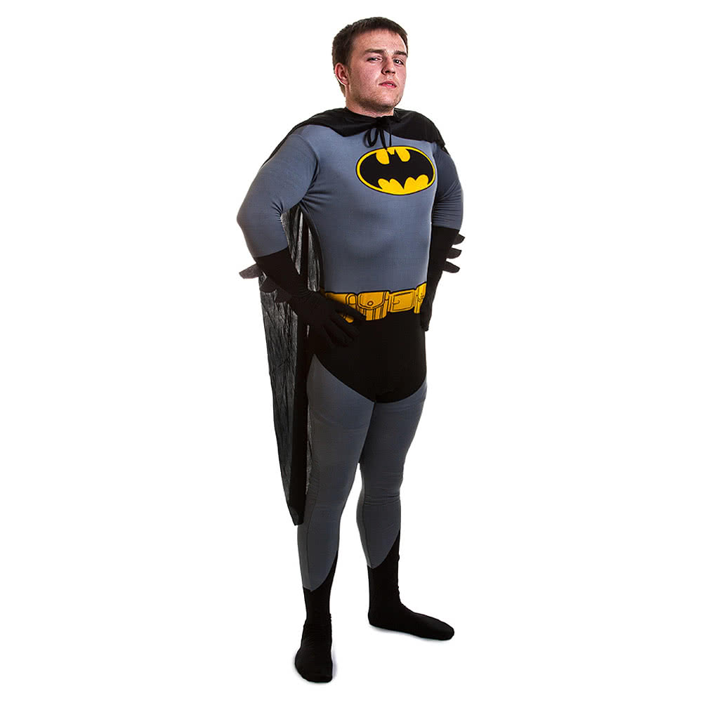 Rubies 2nd Skin Batman Jumpsuit (Black/Grey/Yellow)