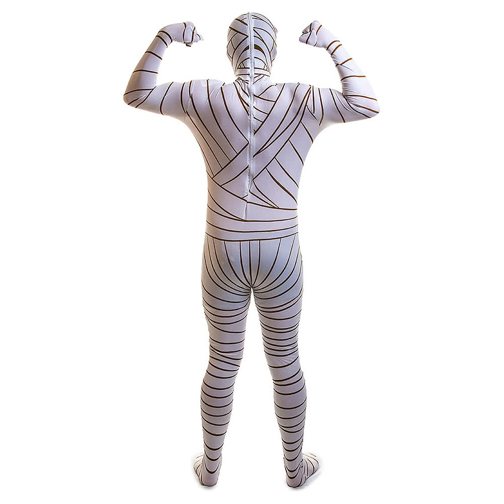 Rubies Second Skin Mummy Fancy Dress Jumpsuit (White)