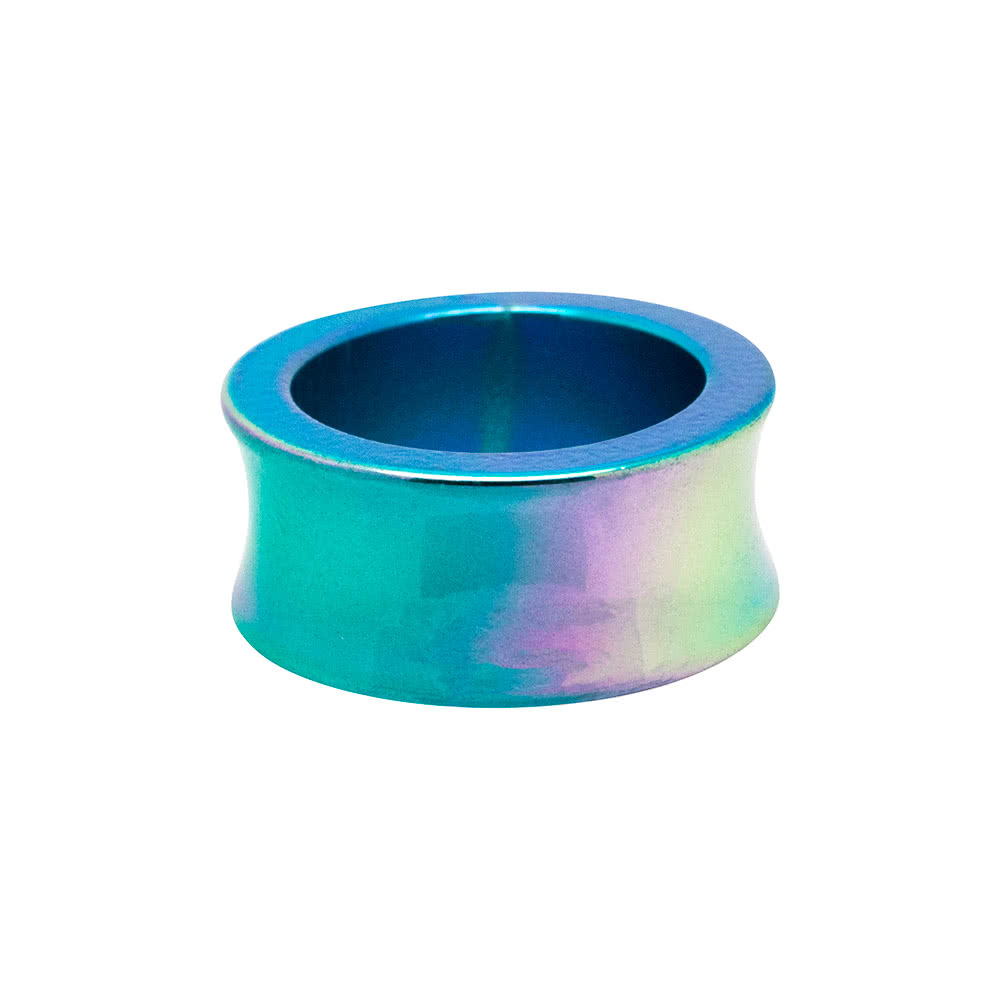 Blue Banana Acrylic Pearl Flesh Tunnel 6-26mm (Blue)